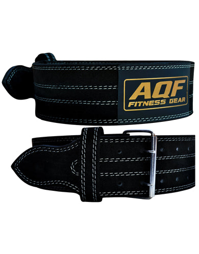 AQF Weight Lifting Nubuck Leather Power Belt