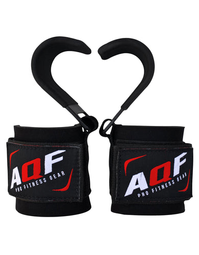 AQF Weight Lifting Padded Hook Straps