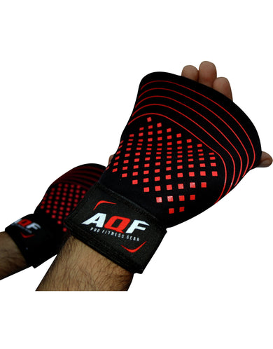 AQF Leather Weight Lifting Gel Palm Grip