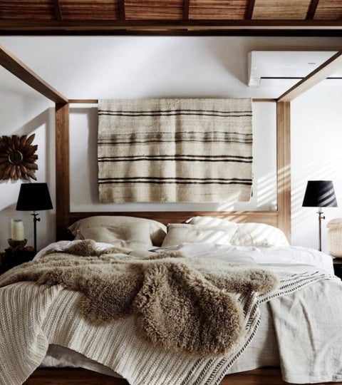 Cosy Sheepskin Bedroom