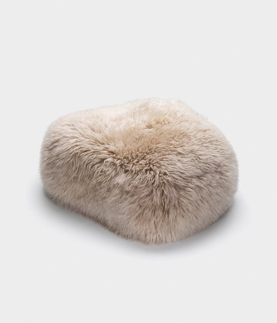 sheepskin footstool