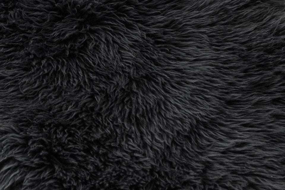 Grey sheepskin closeup