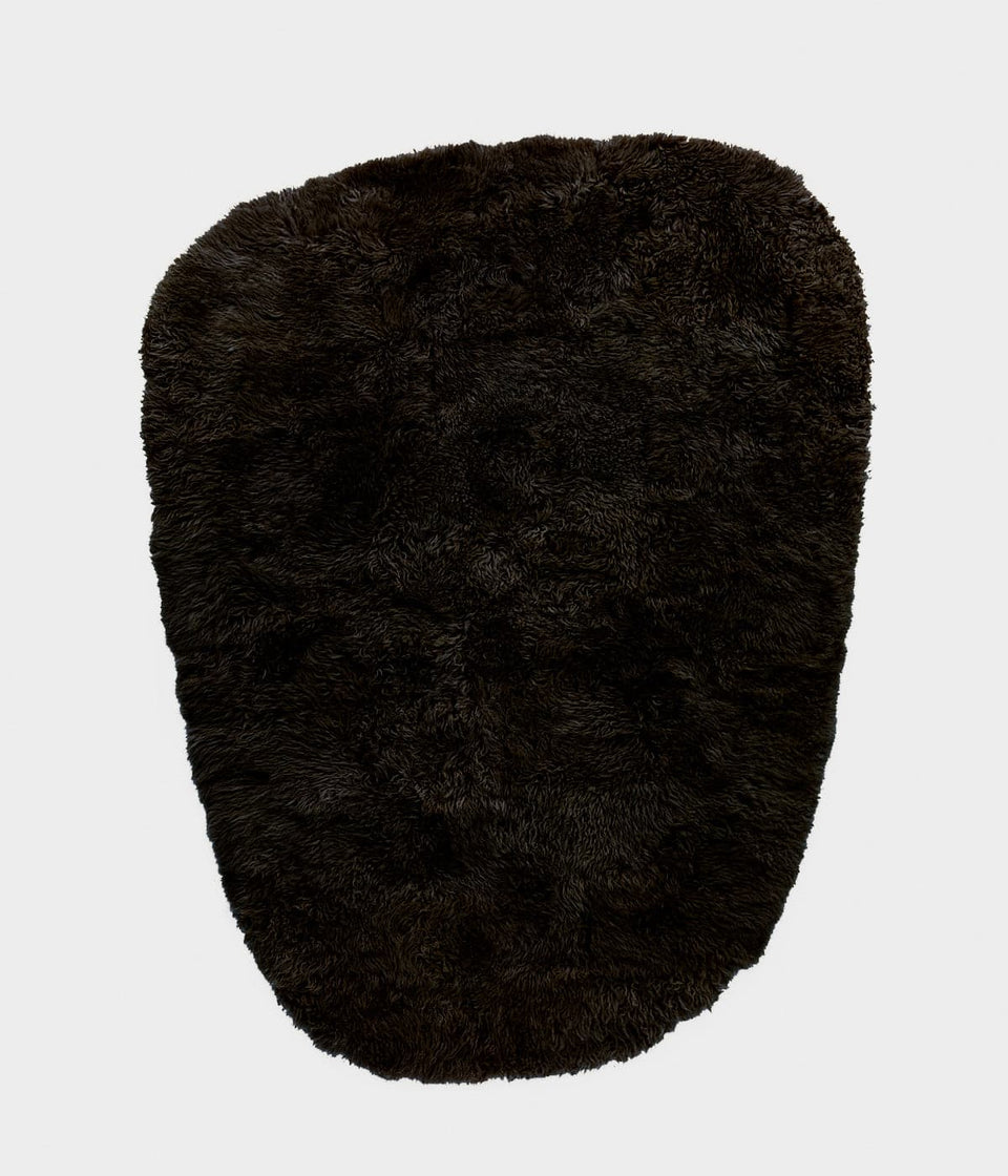 Sheepskin wool floor rug