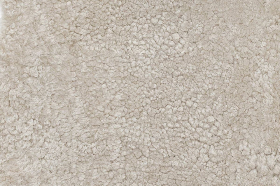 Closeup of short wool sheepskin