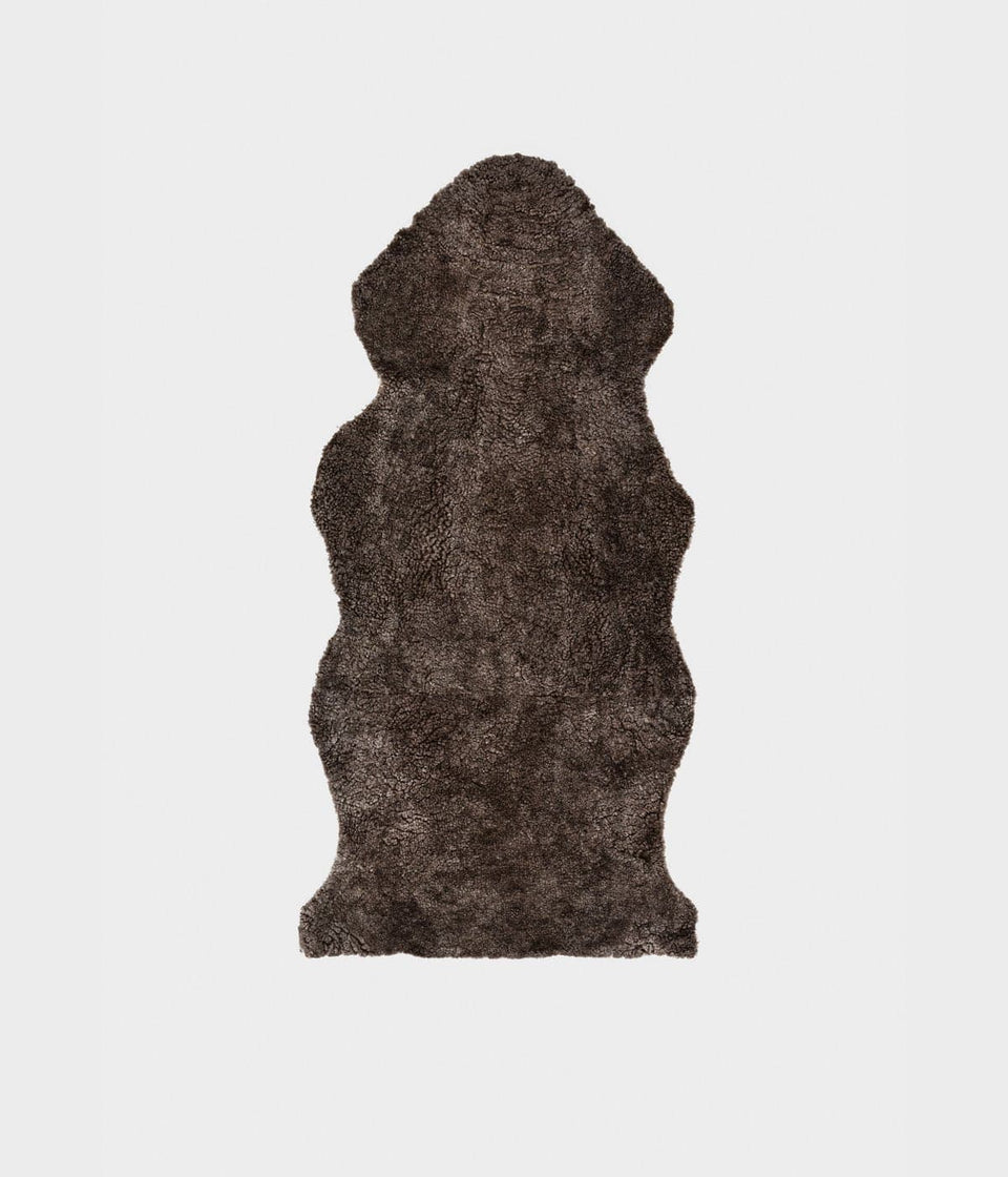 Short wool sheepskin rug