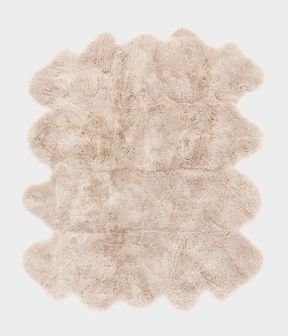 New zealand long wool sheepskin rug