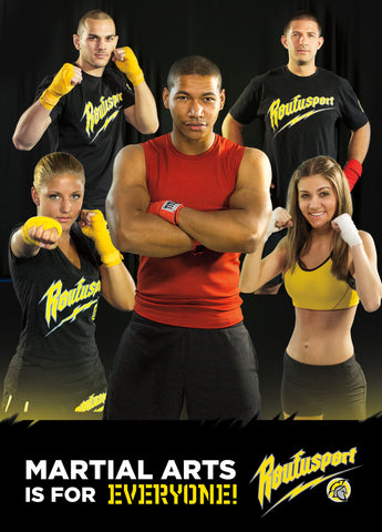 Roufusport Kickboxing Association Postcard Proof Front