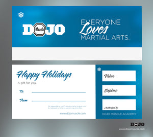 Holiday Gift Certificate - Blue Basic - Dojo Muscle