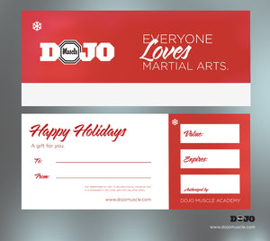Holiday Gift Certificate - Red Basic - Dojo Muscle