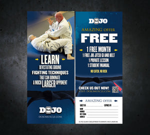 Tear Off Cards - Jiu Jitsu 3 - Dojo Muscle