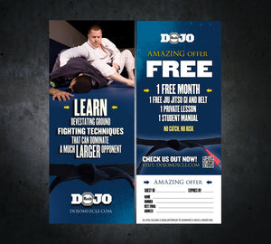 Tear Off Cards - Jiu Jitsu 2 - Dojo Muscle