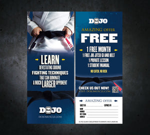 Tear Off Cards - Jiu Jitsu 1 - Dojo Muscle