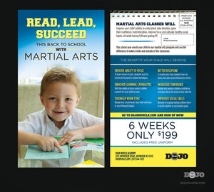 Back to School, Read, Lead and Succeed EDDM 1 - Dojo Muscle