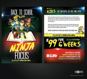 Back To School - Ninja Focus Postcard 1b Proof