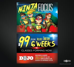 Back To School With Ninja Focus Trial Pass 1A - Dojo Muscle