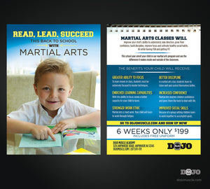 Read, Lead, Succeed Back to School Post Cards 1a - Dojo Muscle