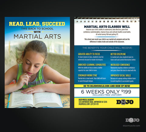 Read Lead Succeed Back To School Postcard Proof