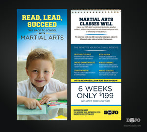 Back To School Read, Lead, Succeed Rack Card 1A - Dojo Muscle