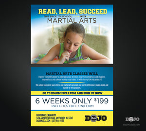 Back To School Read, Lead, Succeed Trial Pass 2 - Dojo Muscle