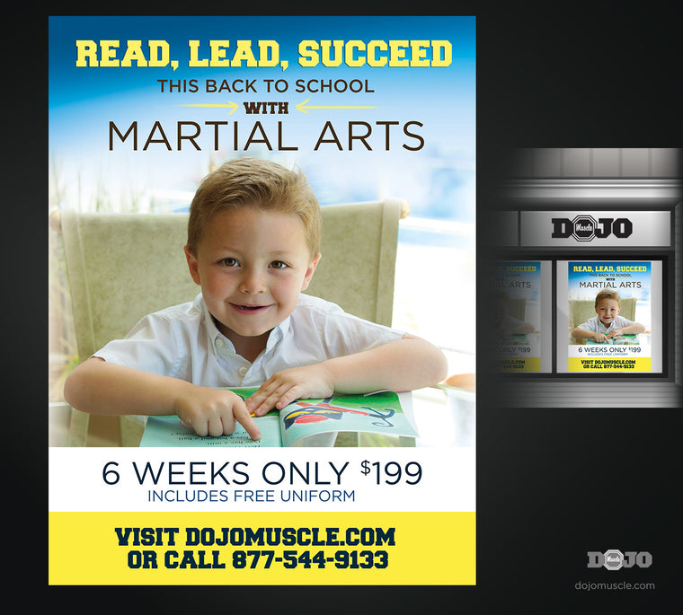 Back To School Read, Lead, Succeed Window Decal