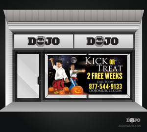 Kick or Treat Banner 4 x 8 Horizontal - Dojo Muscle