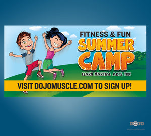 Fun and Fitness Summer Camp Banner - Dojo Muscle