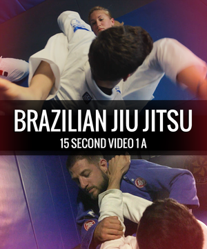 A girl about to arm bar a guy, and a guy cross collar choking another guy in his guard