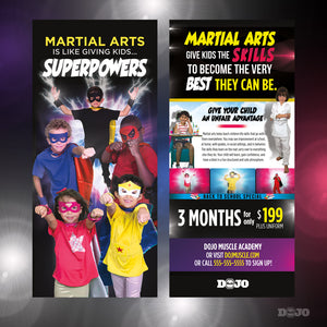 Back To School Superpowers Rack Card - Dojo Muscle