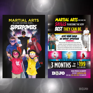 Back to School Superpowers Post Cards A1 - Dojo Muscle