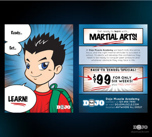 Back to School with Ready Set Learn Post Cards - Dojo Muscle