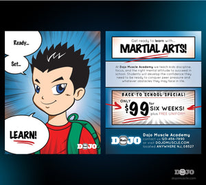 Back to School with Ready Set Learn Post Cards 1C - Dojo Muscle