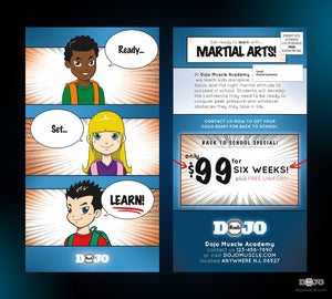 Back to School Ready Set Learn EDDM Cards - Dojo Muscle