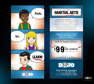 Ready Set Learn Back To School Rack Card - Dojo Muscle