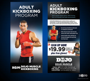 Rack Card Adult Kickboxing 1a - Dojo Muscle