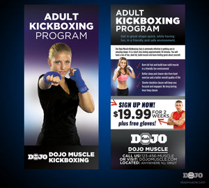 Rack Card Adult Kickboxing 1b - Dojo Muscle