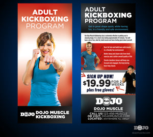 Rack Card Adult Kickboxing 1c - Dojo Muscle