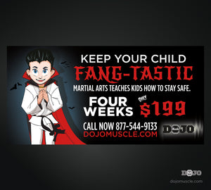 Fangs Horizontal Banner