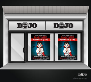 Halloween Fangtastic Window Decals - Dojo Muscle