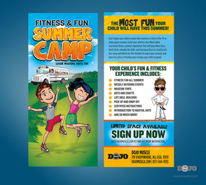 Fitness and Fun Summer Camp Rack Card - Dojo Muscle