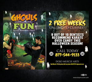 Ghouls Just Want to Have Fun Halloween Card 1b - Dojo Muscle