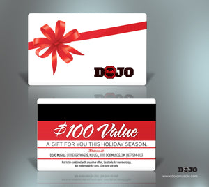 Dojo Muscle Plastic Gift Cards - Holiday Style 1