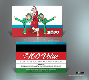 Dojo Muscle Plastic Gift Cards - Holiday Style 2 - Dojo Muscle