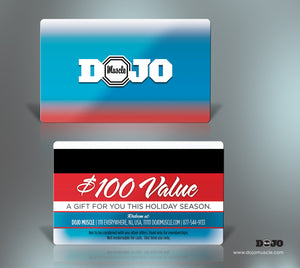 Dojo Muscle Plastic Gift Cards - Holiday Style 4 - Dojo Muscle