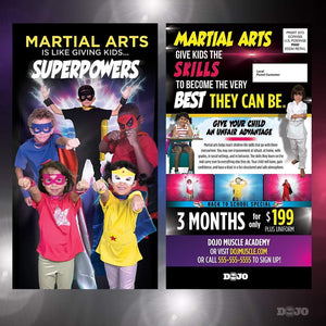 Back to School Superpowers EDDM Cards - Dojo Muscle