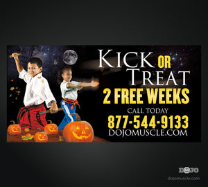 Kick or Treat Banner 4 x 8
