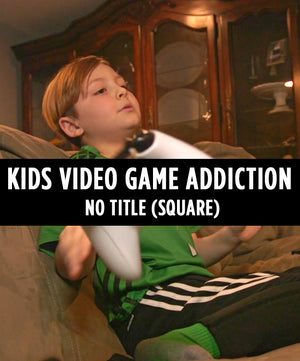 Kids Video Game Addiction (Square) - No Title - Dojo Muscle