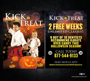 Kick or Treat Halloween Card 1d - Dojo Muscle
