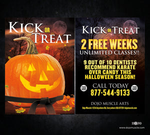 Kick or Treat Halloween Card 1e - Dojo Muscle