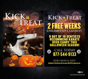 Kick or Treat Halloween Card 1f
