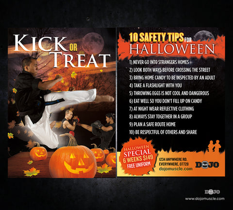 Kick or Treat Safety Tips Halloween Card 2e